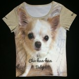 "Sale; Reduced from £21.99 - £12.99   Ladies "" Chic=hua-hua"" T-Shirts"