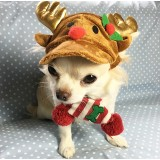 PET CHRISTMAS REINDEER COSTUME HAT