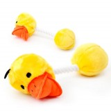 """PET """" TUG AND PULL""""  DUCK TOY TREAT"""