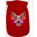 CHRISTMAS PET JUMPER WITH FLASHING LED LIGHTS