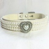 Beautiful Bling Cream Embellished Dog Collar with Crystals
