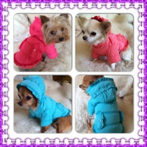 Chihuahua and Small Breeds Winter Frilly Dog Coats