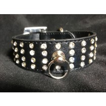 Beautiful Black Bling Dog Collar Embellished with Crystals