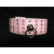 Beautiful Bling Pink Embellished Dog Collar with Crystals