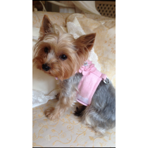 Sale PRICE !!! Waggywinks Pretty  Bling Flower Harness-Small-Baby Pink