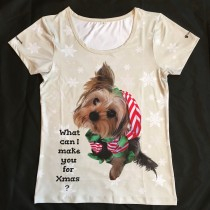 "Waggywinks Ladies Xmas T-Shirt Featuring ""Buddy Love"""