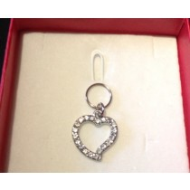 Bling Pet Love Heart Charm