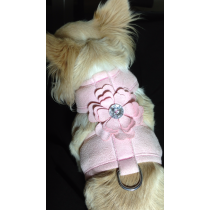SALE PRICE !!! Waggywinks Pretty  Bling Flower Harness in Pink or Blue