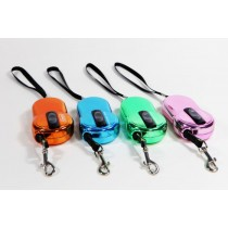 Small Dog New Metallic Mobile Phone Style Retractable Leads