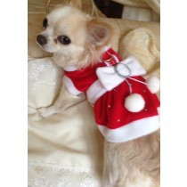Chihuahua and Small Breeds Bling Mrs Santa Dress