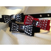 Dickie Bow Collar with Swarovski Crystals