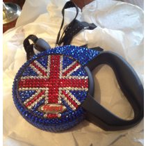 Designer Union Jack Rhinestone Lead for Toy Dogs